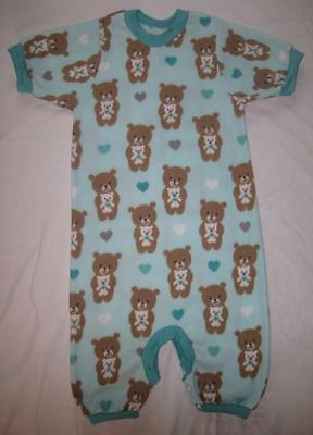 """ADULT Size Teddy Bears 34"""" and 39"""" Soft Fleece DIAPER CHECK Romper, by LL"""