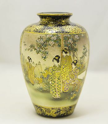 ANTIQUE JAPANESE SATSUMA VASE 19TH CENTURY Excellent Piece