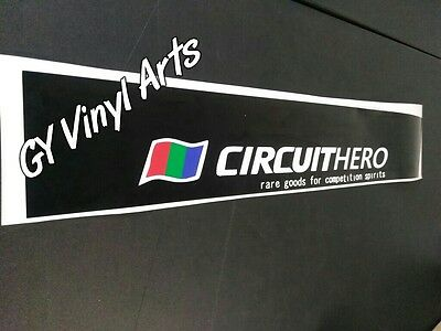 Circuit Hero Drift Windshield Sun Visor Strip Banners Decals Stickers JDM