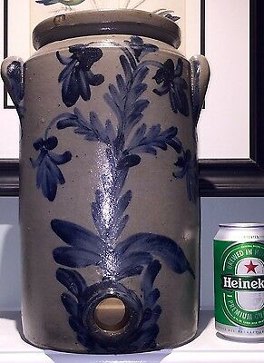 19th Century Remmey Stoneware Water Cooler Crock Philadelphia PA Pennsylvania