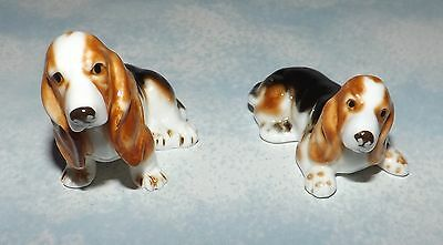 Basset Hound Mini Figurines, Great for Shadowboxes!!