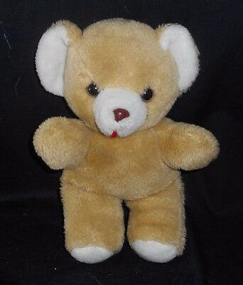 "12"" Vintage 1984 Animal Toy Brown / Tan Musical Wind Up Teddy Bear Stuffed Plush"