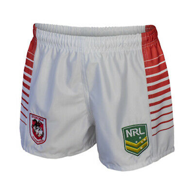 St George ILL Dragons NRL 2019 Home Supporters Shorts Adult & Kid Sizes!