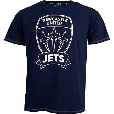 Newcastle Jets FC Classic Core T Shirt Size S-5XL! A League Soccer Football!
