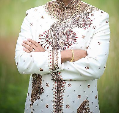 Indian Groom's wedding - sherwani with dhotiyu bottom