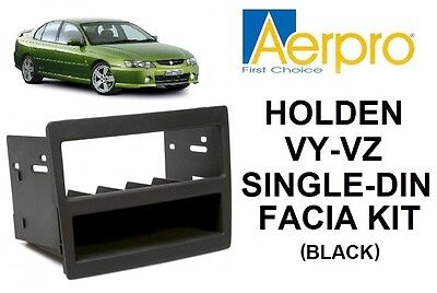 Aerpro - Holden Commodore Vy-Vz Single-Din Facia Kit Pocket Dash Panel Black