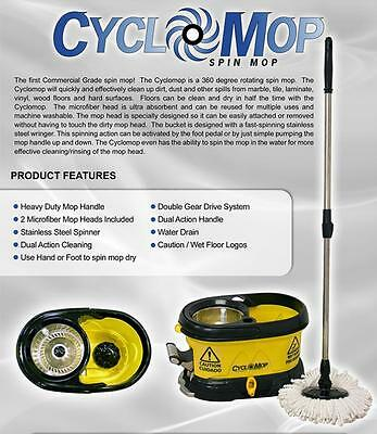 Cyclomop - Cm500D  2 Gallon Mop Pail Bucket Set With Heads, Brush