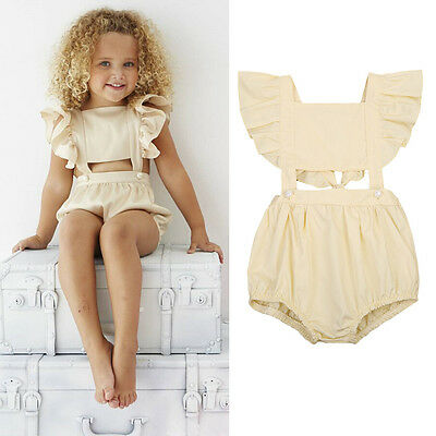 1-5Y Toddler Baby Girls Kids Outfits Bodysuit Romper Jumpsuit Playsuit Clothes