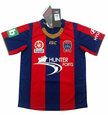 Newcastle Jets Kids ISC Home Jersey Kids Sizes 6-14! A League Soccer!