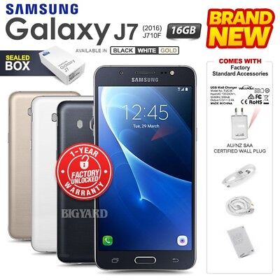 New Unlocked SAMSUNG Galaxy J7 J710F Black White Gold Dual SIM Android Phone