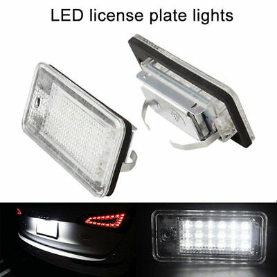 18 LED Error Free Canbus License Number Plate Light Lamp For Audi A3 S3 A4 S4 B6