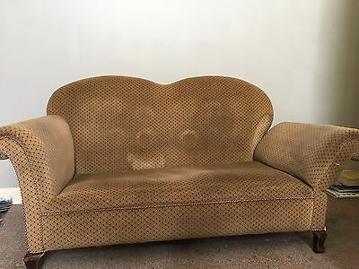 victorian/edwardian drop end sofa-  ideal for upholstery