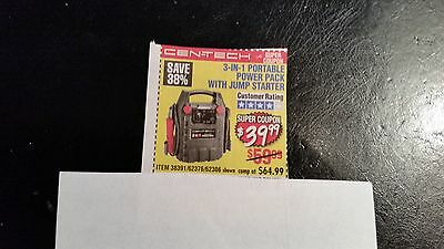 HARBOR FREIGHT TOOLS coupon ..... Jump Starter  ~ Power Pack  ...... Coupon Only