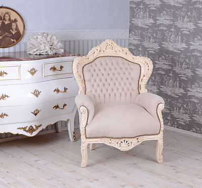 Fauteuil Blanc Fauteuil Somptueux Chaise Baroque Thron Chaise Baroque