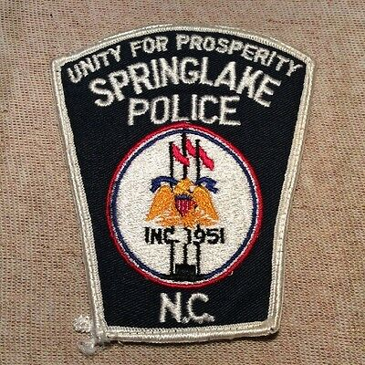 NC Springlake North Carolina Police Patch