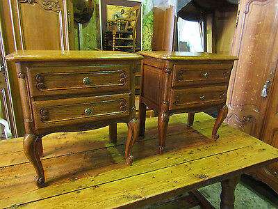 Pair of vintage Louis XV style French oak bedside drawers.cupboards,cabinets