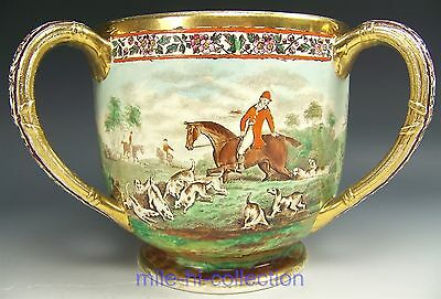 1905 Wedgwood Hand Painted Hunting Scenes Loving Cup Vase Artist Signed