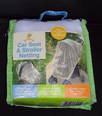 New Car Seat and Stroller Netting Goldbug Baby Insect Protection Cover