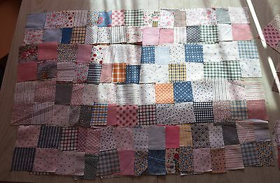 82 1890-1930 4 Patch quilt blocks, fabulous collection of fabrics!