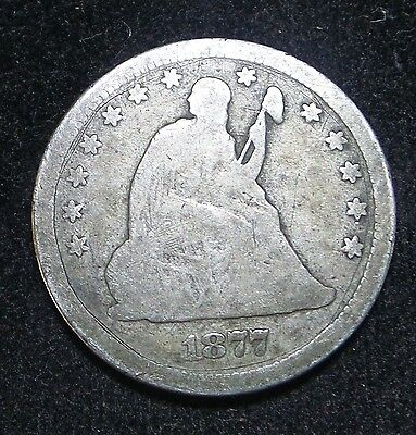 1877-CC 25C Liberty Seated Silver Quarter