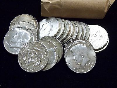 1965-1969 $10 FV Face Value Roll 40% Silver Kennedy Half Dollars **INVESTMENT**