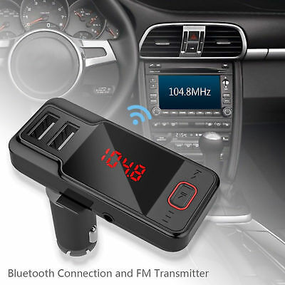 FreeCall Bluetooth Wireless Car AUX Stereo Audio Receiver FM Adapter USB Charger