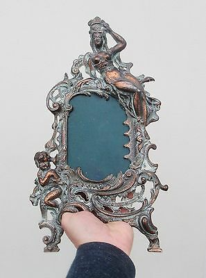 Large Antique Ornate Picture Photo Frame - Art Nouveau /  Rococo - Great Prop