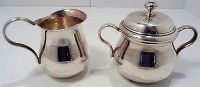 Christofle France Silverplate Lidded Sugar Bowl & Creamer