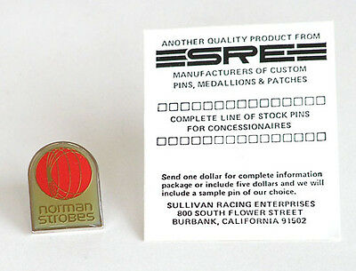 TieTack Lapel Pin Norman Strobes Promotional sold by Sullivan Racing Enterprises