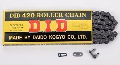 new D.I.D. 420 STD Standard Series Non O-Ring Chain Natural 25ft Master Link did