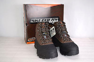 Men's Skecher's For Work77050,Rad Ford Work Boots with Composite Toe,Black/Brown