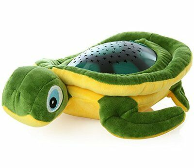Lil' Jumbl Kids Nightlight Stars-and-Sounds Soothing Turtle Projector (Green)