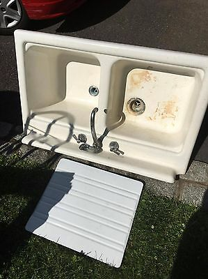 vintage 1952 american standard double basin cast iron sink