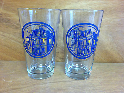 Third Shift Amber Lager 16 oz Pint Beer Glass - NEW ~ Set of Two (2) Glasses