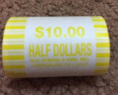 One Unsearched Half Dollar Roll- POSSIBLE 40% 90% Kennedy/Franklin Silver Coins!