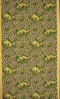 """Chic Brunschwig & Fils 'Chinese Leopard Toile' Green Fabric Bolt"""