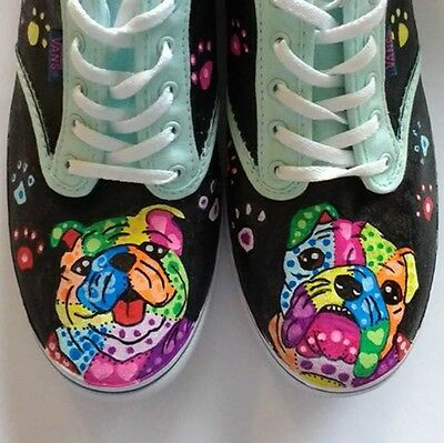 Bulldog hand painted shoes