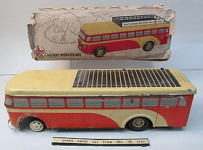 rare Texaco CALTEX Battery Operated BUS made in INDA by Vignyan Maarg