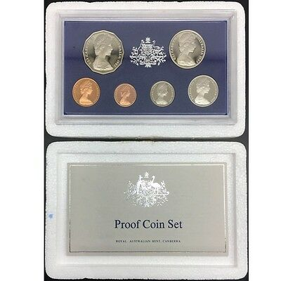 Australian 1983 6 Coin Proof Set with original foams and certificate.
