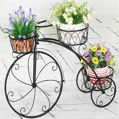 Bicycle Flower Racks European Creative Antique Balcony Pots Display Stand