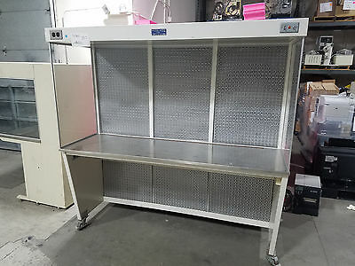 6FT Stainless Steel SS Lab Laboratory Chemical Fume Hood Cabinet on casters