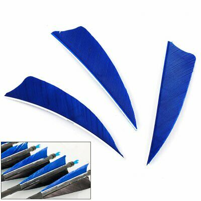 "50Pcs 3"" Right Wing Shield Turkey Feathers Hunting Arrow Fletching Handmade"