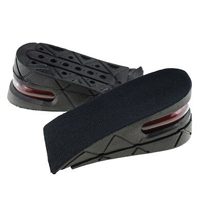 unisex heel taller PU air cushion 2-layer height increase shoe insole pad Hot