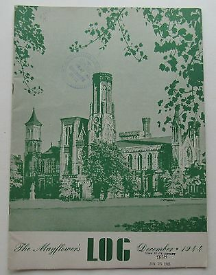 Rare The Mayflower's Log Magazine Smithsonian Institution Cover - Dec 1944