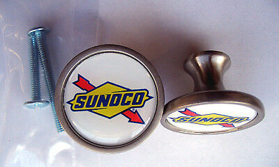 Sunoco Gas Cabinet Knobs, Sunoco Gasoline Logo Cabinet Knobs, Sunoco gas Knobs