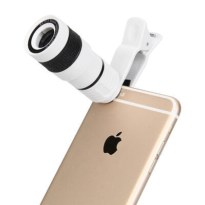 Clip on 8X Optical Zoom HD telescope Camera Lens for Universal iOS / Android LG