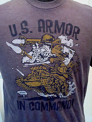 Rat Fink Ed Roth Licensed US Armor in Command Military Series Shirt Large 2006