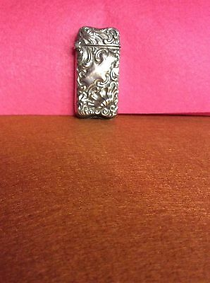 Late 1800's Whiting Sterling Silver Match Safe