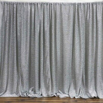 Metallic Silver BACKDROP 20x10 ft Spandex Party Wedding Decorations SALE