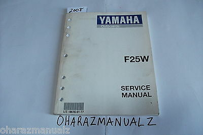 OEM YAMAHA OUTBOARD Service Manual Guide 294095 F25MH